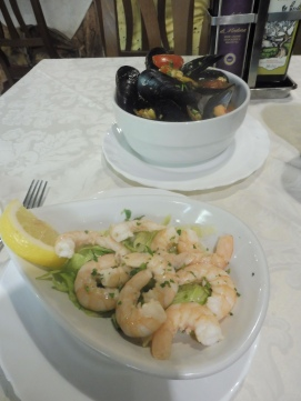Mussels and Scampi