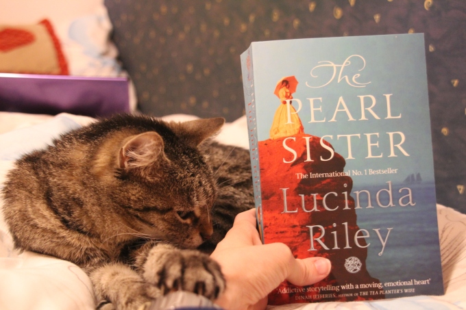 The Pearl Sister by Lucinda Riley featuring my cat Holly