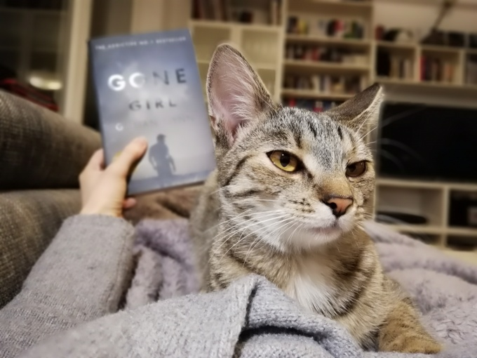 Gone Girl by Gillian Flynn and my cat Mary