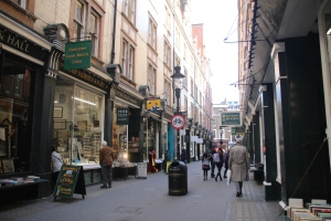 Cecil Court, inspiration for Diagon Alley